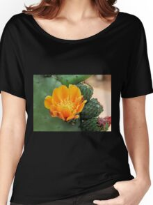 Orange Cactus Flower Women's Relaxed Fit T-Shirt