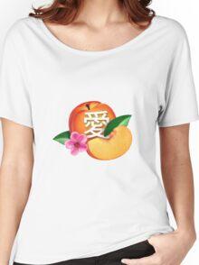 peach / love / 愛 Women's Relaxed Fit T-Shirt