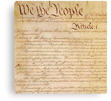 US CONSTITUTION Canvas Print