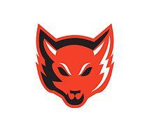 Red Fox Head Front  by patrimonio