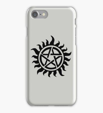 Supernatural Demon Possession Protection [BLACK] iPhone Case/Skin