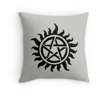Supernatural Demon Possession Protection [BLACK] Throw Pillow
