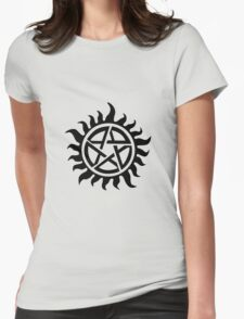 Supernatural Demon Possession Protection [BLACK] Womens Fitted T-Shirt