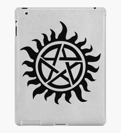 Supernatural Demon Possession Protection [BLACK] iPad Case/Skin