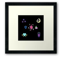 My little Pony - Sparkle Family Cutie Mark Special V2 (Nyx) Framed Print