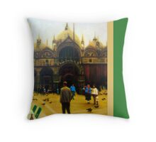 St. Mark's Square with border Throw Pillow