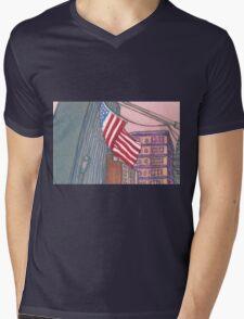 american flag in new york city Mens V-Neck T-Shirt