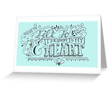 Hand Drawn Quote Greeting Card