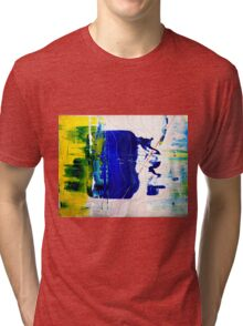 The Thin Red Line - Original mixed media painting Tri-blend T-Shirt