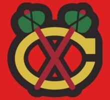 Chicago Blackhawks Tomahawk Logo by rcvan