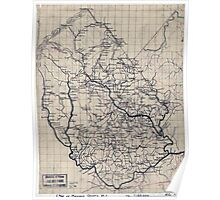 Civil War Maps 2013 Map of Madison County Va Poster