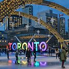 Skating under the Stars in Nathan Phillips Square by Gerda Grice