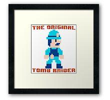 Super Pitfall Original Tomb Raider Framed Print