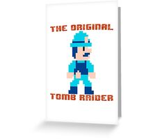 Super Pitfall Original Tomb Raider Greeting Card