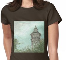 high bridge water tower Womens Fitted T-Shirt