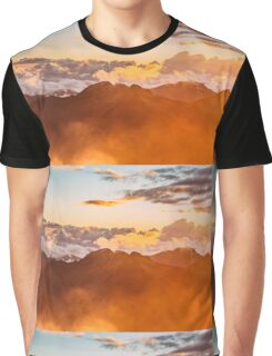 Sunrise Mountain Clouds Graphic T-Shirt