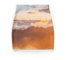 Sunrise Mountain Clouds Mini Skirt