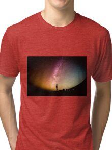 Circular Galaxy of Stars Tri-blend T-Shirt