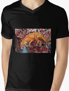 Fox Totem Mens V-Neck T-Shirt