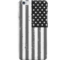 American Flag - Black and White iPhone Case/Skin