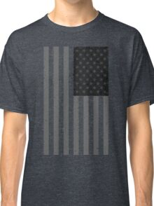 American Flag - Black and White Classic T-Shirt