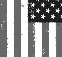 American Flag - Black and White Sticker