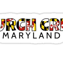 Church Creek Maryland flag word art Sticker