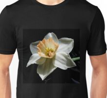 Daffodil and  Black Satin Unisex T-Shirt