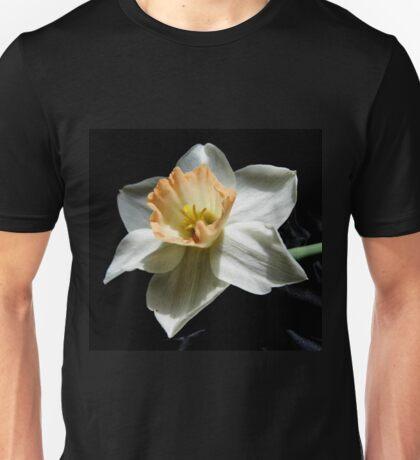 Daffodil and  Black Satin Unisex T-Shirt