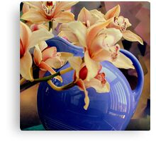 Blue Ball Pitcher Pitched Canvas Print