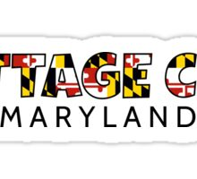 Cottage City Maryland flag word art Sticker