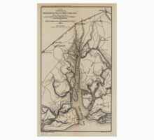 Civil War Maps 0211 Broad River and its tributaries SC One Piece - Short Sleeve