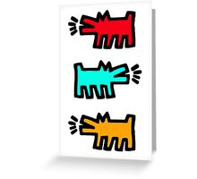 HARING Greeting Card