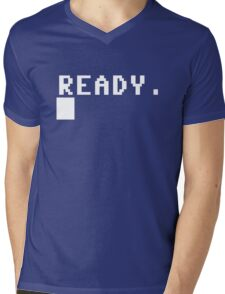 Commodore 64 - C64 - Ready. Mens V-Neck T-Shirt