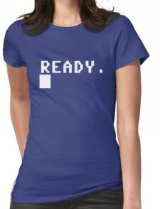 Commodore 64 - C64 - Ready. Womens Fitted T-Shirt