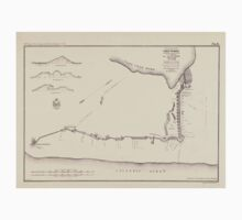 Civil War Maps 1290 Plan and sections of Fort Fisher carried by assault by the US Forces Maj Gen A H Terry Commanding Jan 15th 1865 One Piece - Short Sleeve