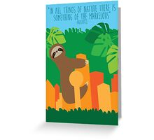 Dallas Animals- Sloth Greeting Card