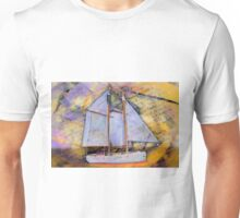 Sailboat Gold Unisex T-Shirt