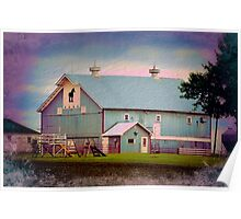 Metal Horse Barn Two Poster
