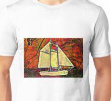 Sailboat Red Dawn Unisex T-Shirt