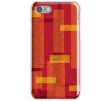Flame bricks iPhone Case/Skin