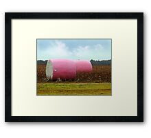 The Breast Cancer Awareness Pink Cotton Bales Framed Print