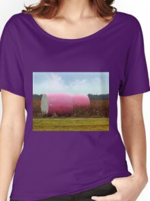 The Breast Cancer Awareness Pink Cotton Bales Women's Relaxed Fit T-Shirt