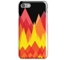 Flame mountains iPhone Case/Skin
