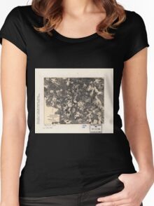 Civil War Maps 1700 Spotsylvania May 8-21 1864 Women's Fitted Scoop T-Shirt