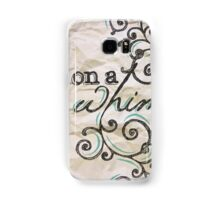 On a Whim Hand Drawn Type Samsung Galaxy Case/Skin