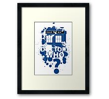 Doctor Who ? Framed Print