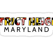 District Heights Maryland flag word art Sticker