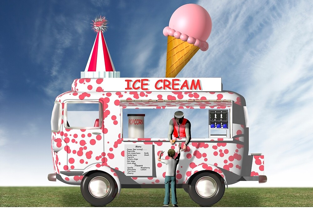 The ice cream truck by Carol and Mike Werner