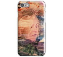 A lady and an eagle iPhone Case/Skin
